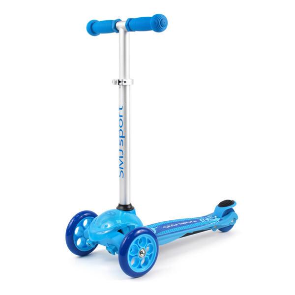SMJ sport LED trīsriteņu skrejritenis zils