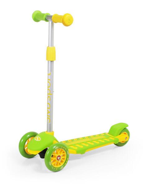 SMJ Sport trīsriteņu skrejritenis dzelten-zaļš