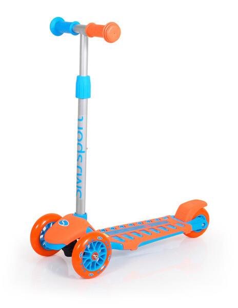 SMJ sport trīsriteņu skrejritenis oranži-zils