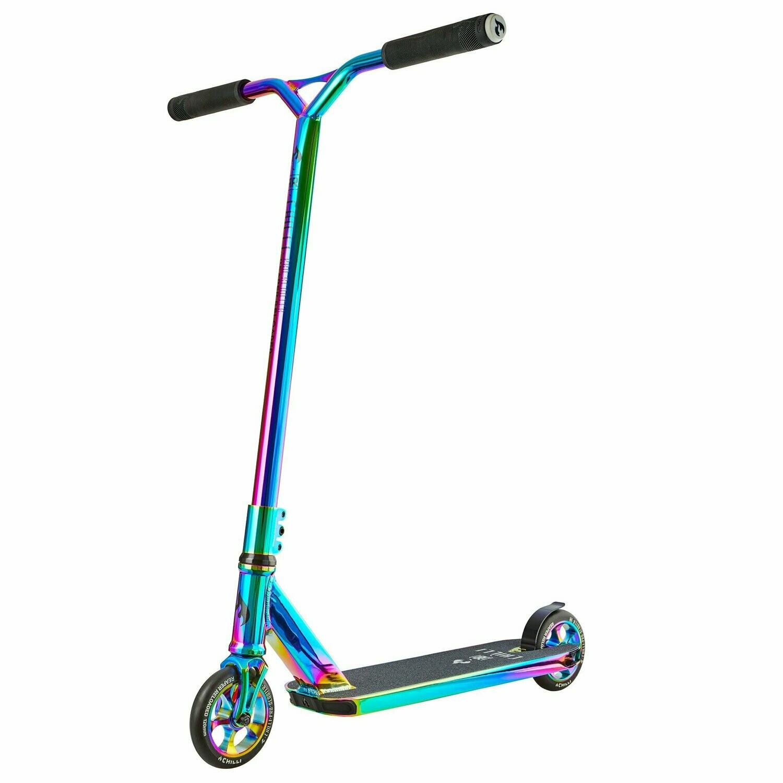Chilli Pro Reaper Stunt Scooter - Full Neochrome triku skrejritenis