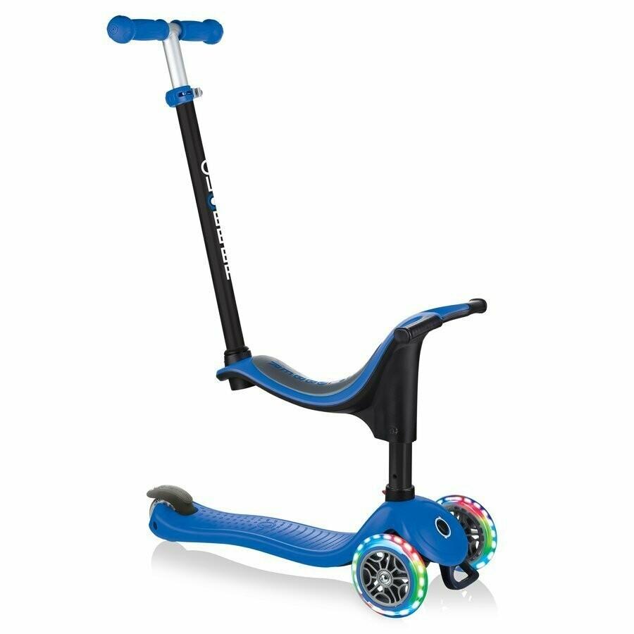 Globber GO-UP sporty Lights blue 3 in 1  bērnu skrejritenis