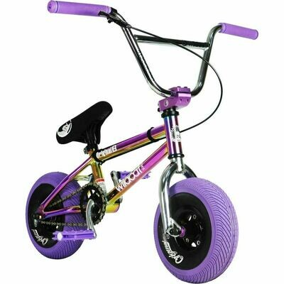 Wildcat Royal Original 2A Mini BMX Bike  Purple/Neochrome/Silver ritenis