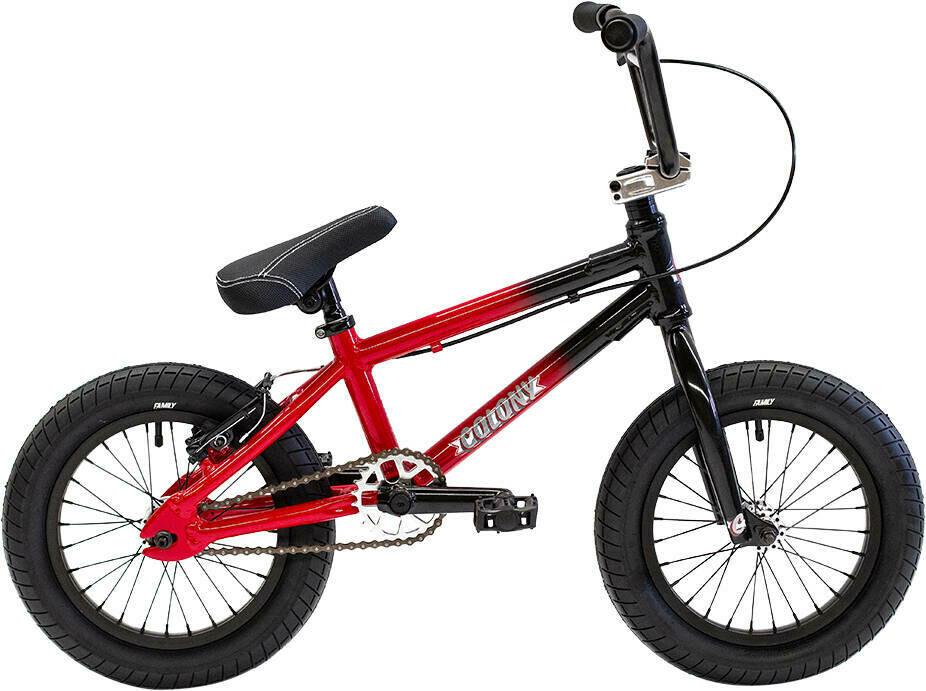 "Colony Horizon 14"" 2021 BMX Freestyle Bike Color: Gloss Black / Red Fade Bike ritenis"