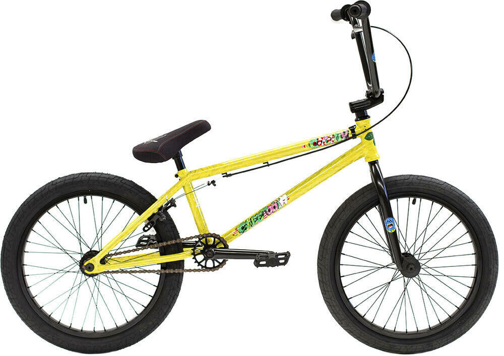 "Colony Sweet Tooth Pro 20"" 2021 BMX Freestyle Bike Yellow Storm"