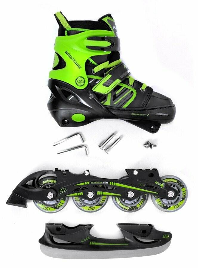SMJ sport CRK41 ALDER 2in1 skrituļslidas un slidas
