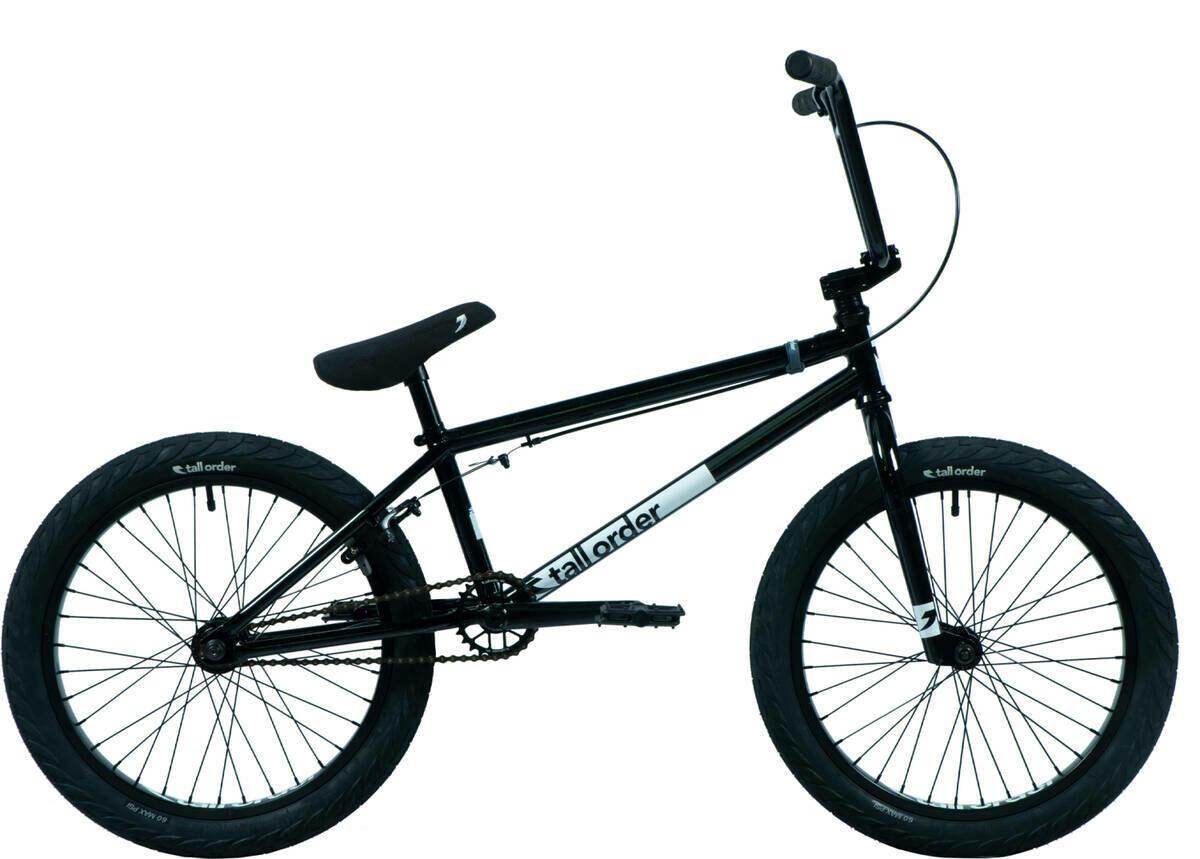 "Tall Order Flair 20"" BMX Freestyle Bike Black ritenis"