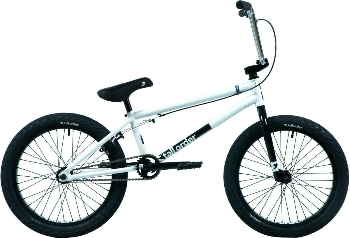 """Tall Order Flair 20"""" BMX Freestyle Bike White ritenis"""