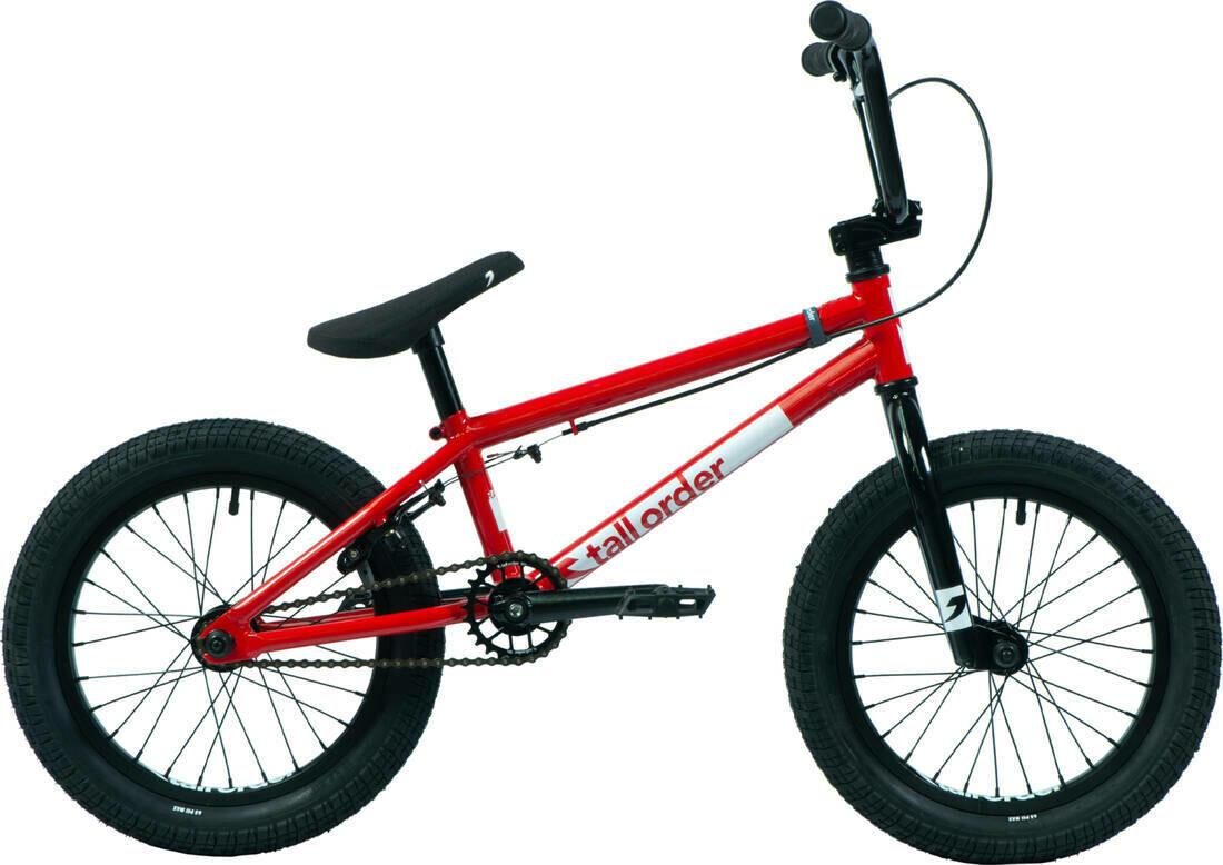 "Tall Order Ramp 16"" BMX Freestyle Bike Red ritenis"