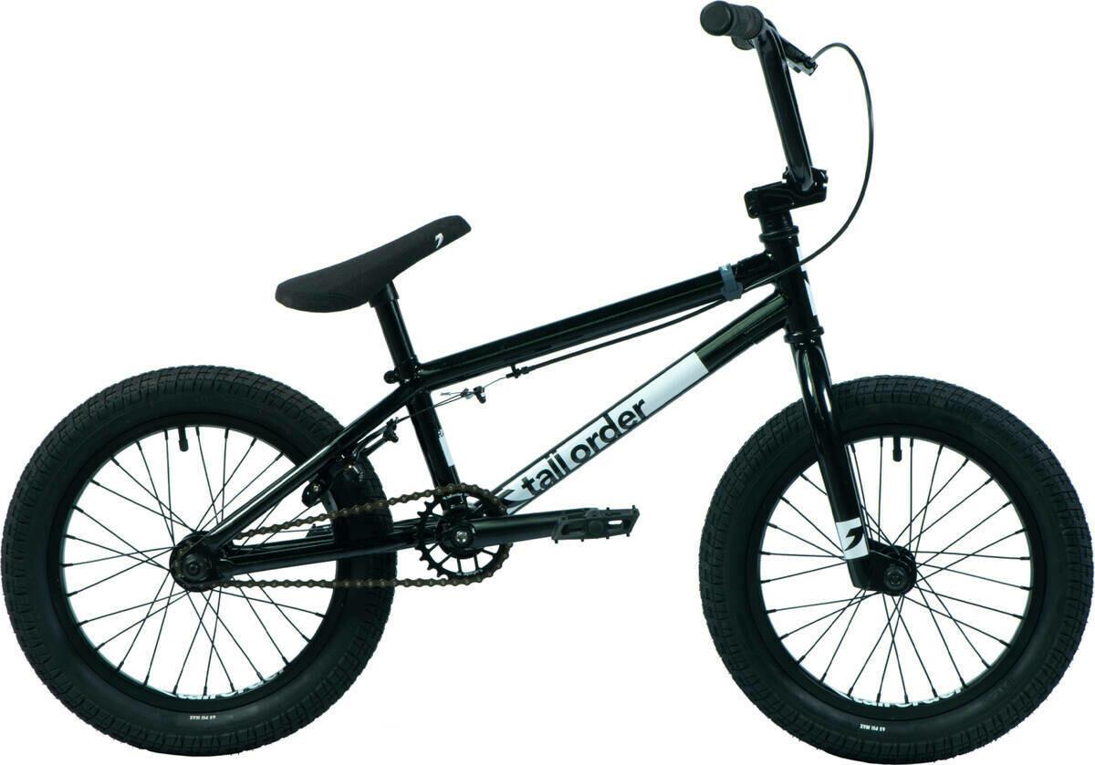 "Tall Order Ramp 16"" BMX Freestyle Bike Black ritenis"