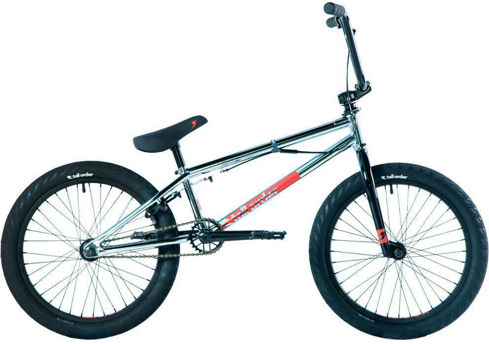 "Tall Order Flair Park 20"" BMX Freestyle Bike Chrome ritenis"