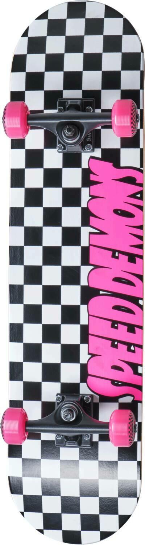 Speed Demons Checkers Complete Skateboard Checkers Pink skrituļdēlis