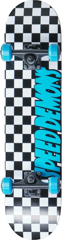 Speed Demons Checkers Complete Skateboard Checkers Blue skrituļdēlis