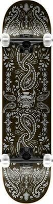 Speed Demons Bandana Complete Skateboard (Bandana Black/Silver)