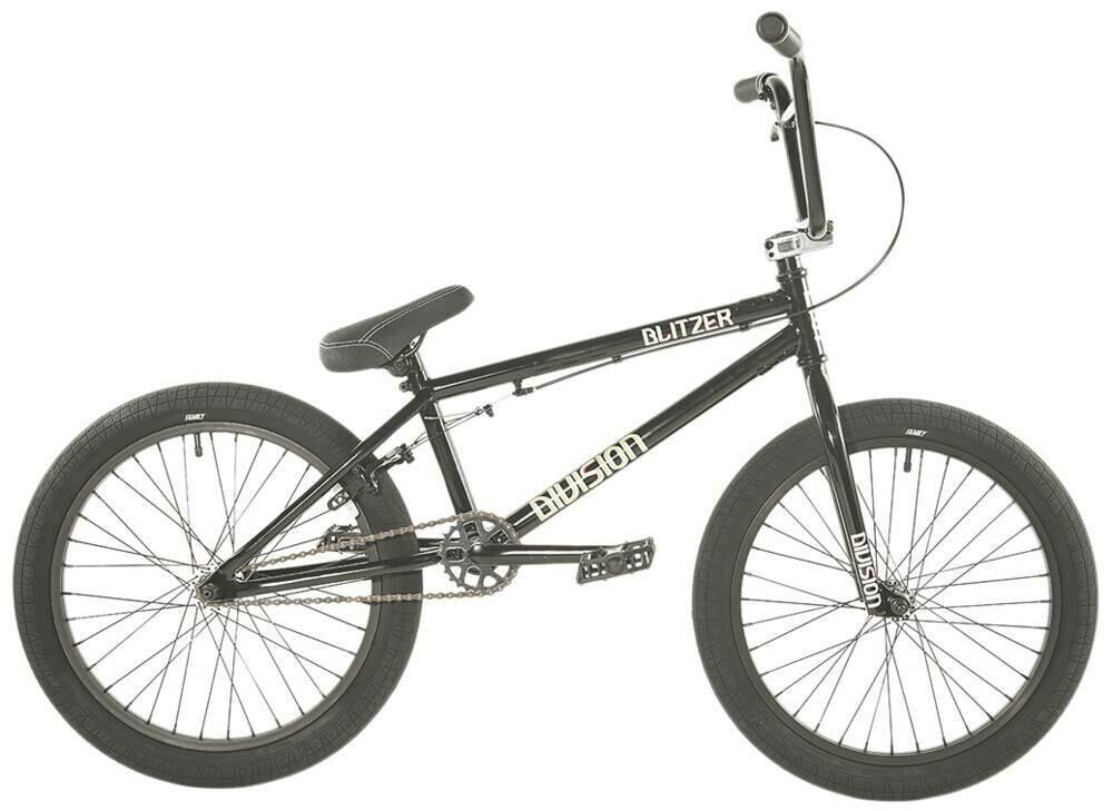 "Division Blitzer 20"" 2021 BMX Freestyle Bike Black/Polished"