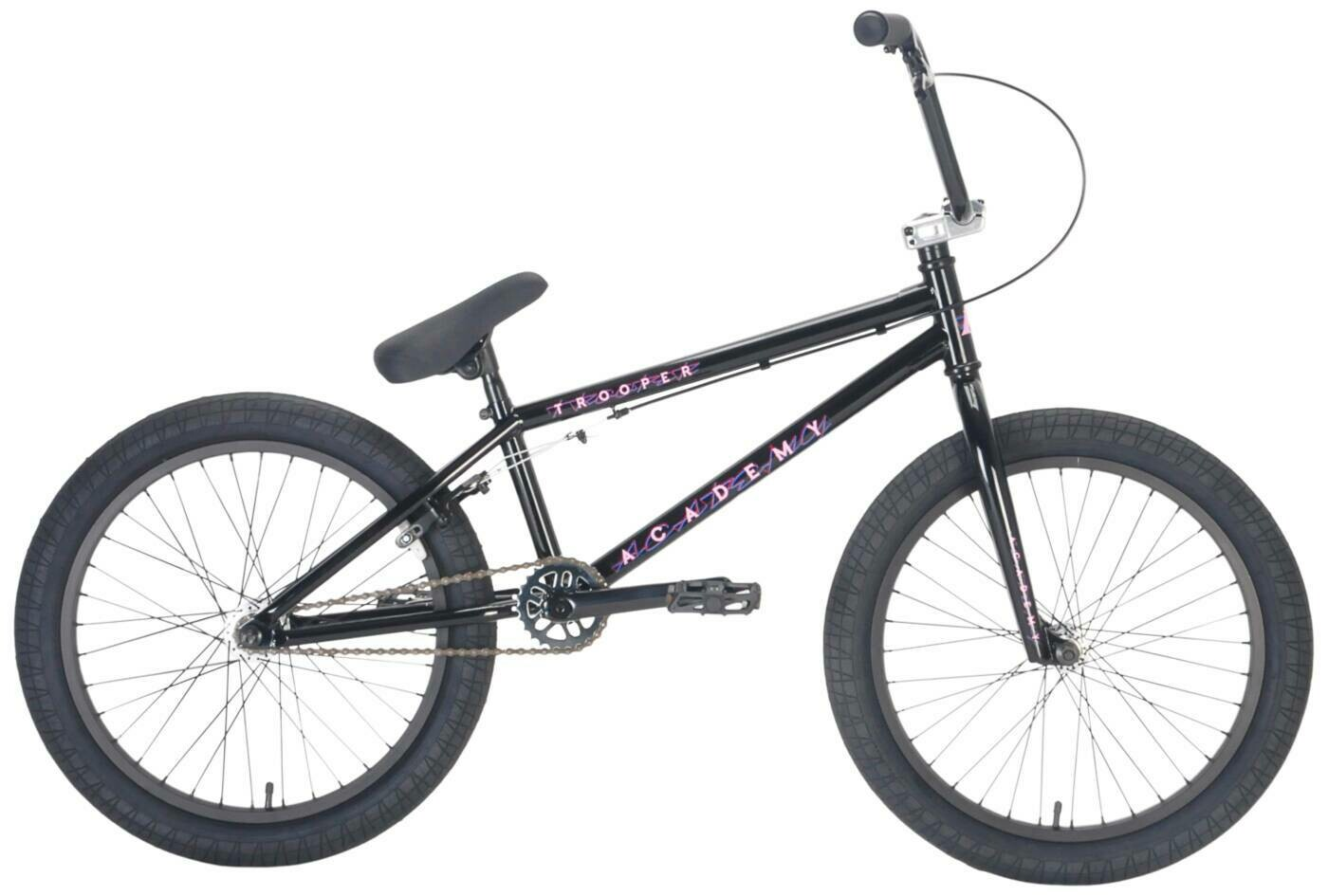 "Academy Trooper 20"" 2021 BMX Freestyle Bike Gloss Black/Polished"
