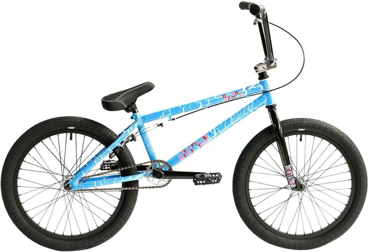 "Division Reark 20"" 2021 BMX Freestyle Bike Crackle Blue"