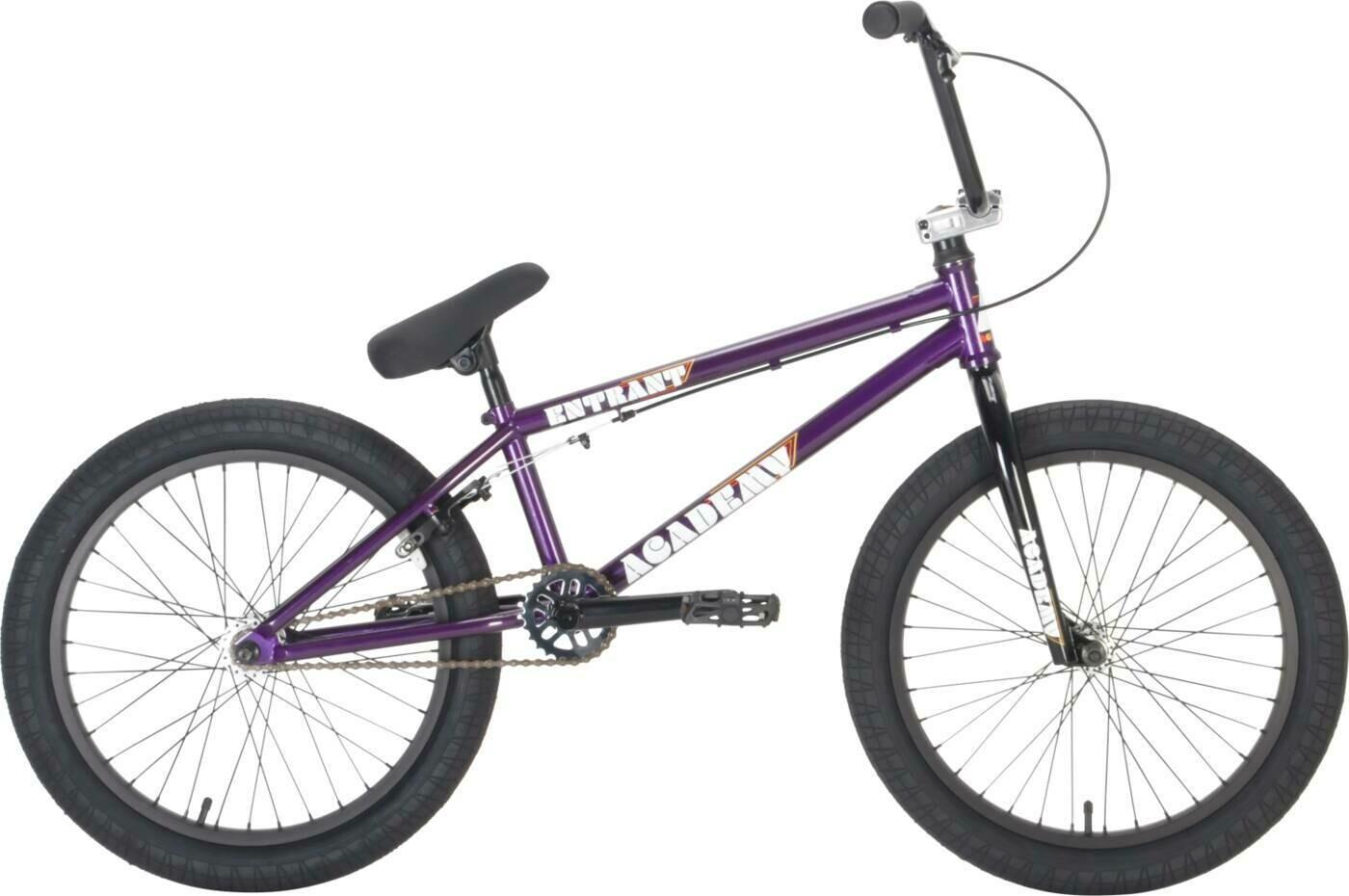 "Academy Entrant 20"" 2021 BMX Freestyle Bike Gloss Purple/Rainbow neochrome ritenis"