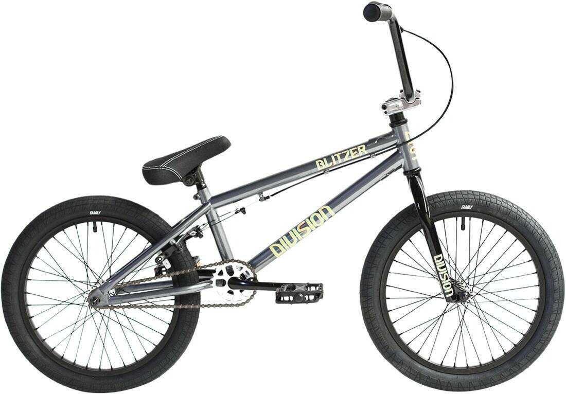 "Division Blitzer 18"" 2021 BMX Freestyle Bike Black/Polished"