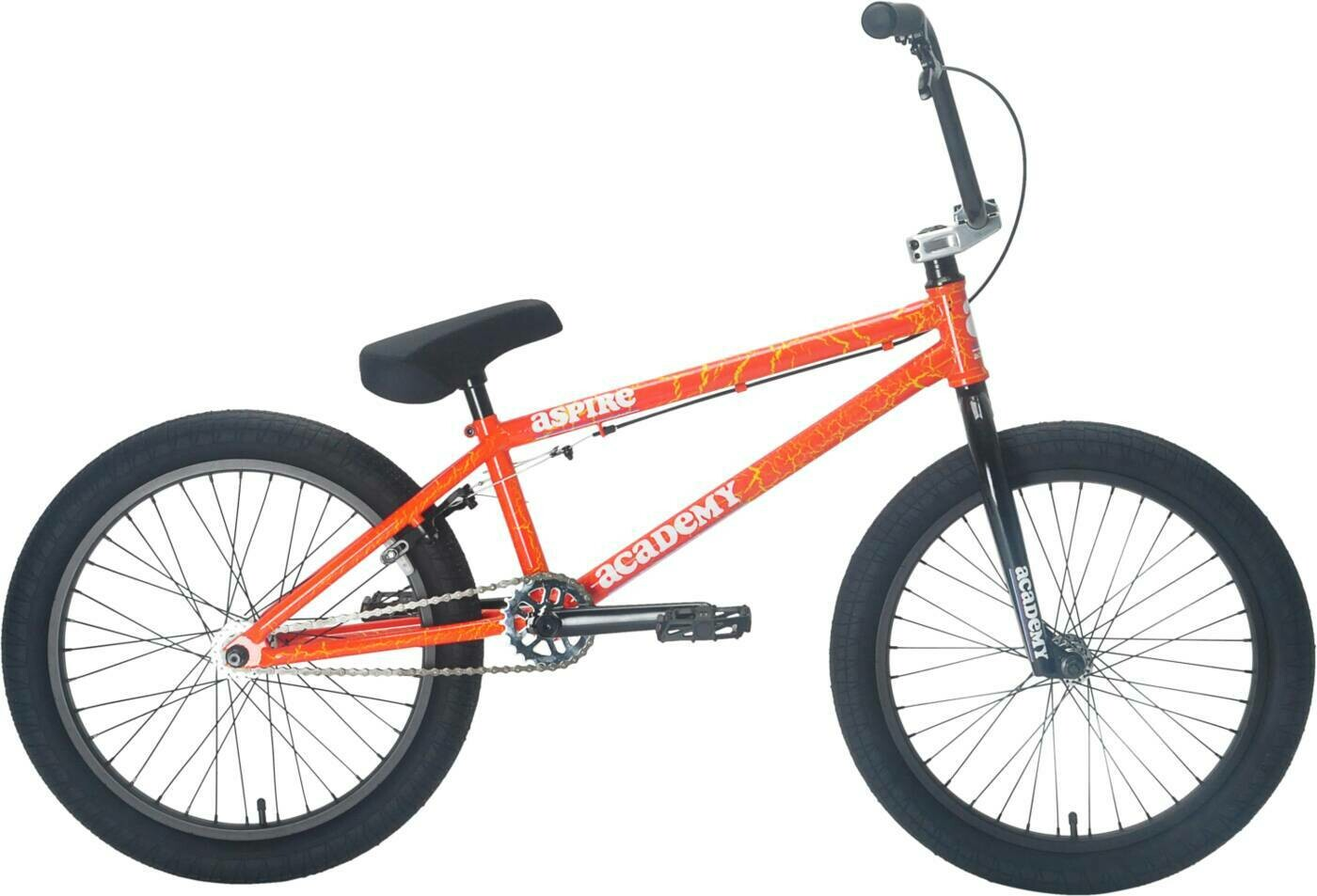 "Academy Aspire 20"" 2021 BMX Freestyle Bike Orange Cracke"