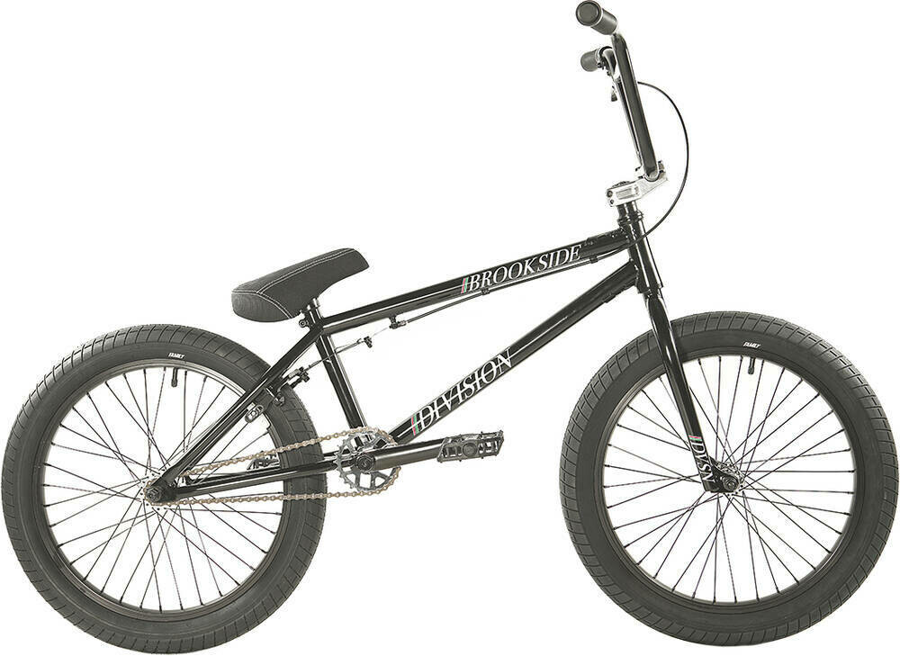 "Division Brookside 20"" 2021 BMX Freestyle Bike Black/Red Fade"