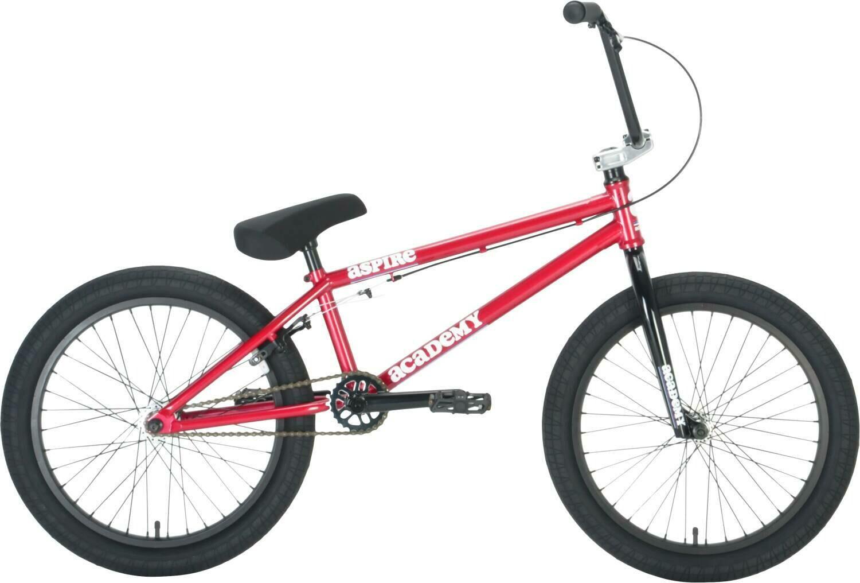 """Academy Aspire 20"""" 2021 BMX Freestyle Bike Dark Red"""