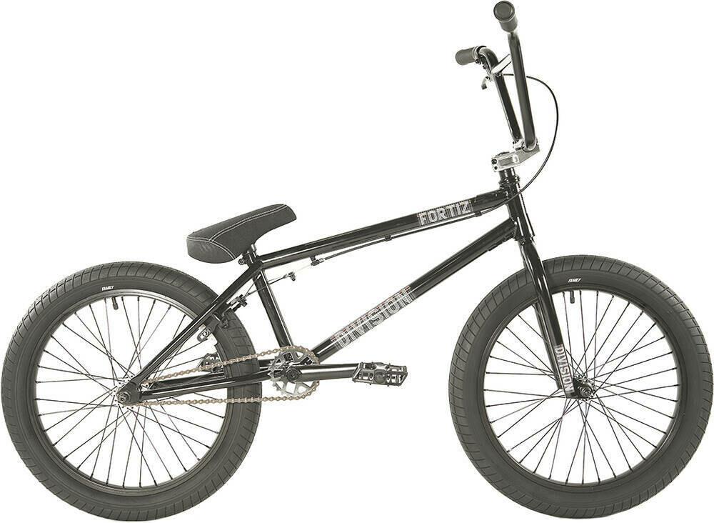 "Division Fortiz 20"" 2021 BMX Freestyle Bike  Black/Polished"