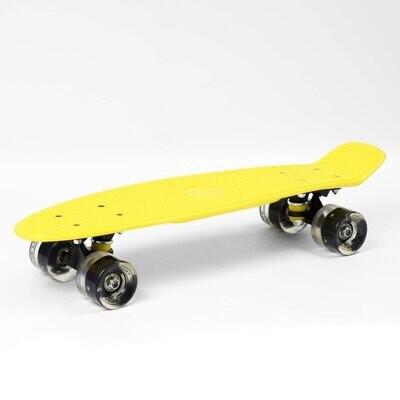 SMJ Sport skateboard Yellow  LED skrituļdēlis
