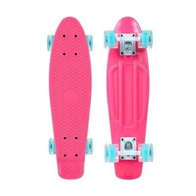 SMJ Sport skateboard PINK LED skrituļdēlis