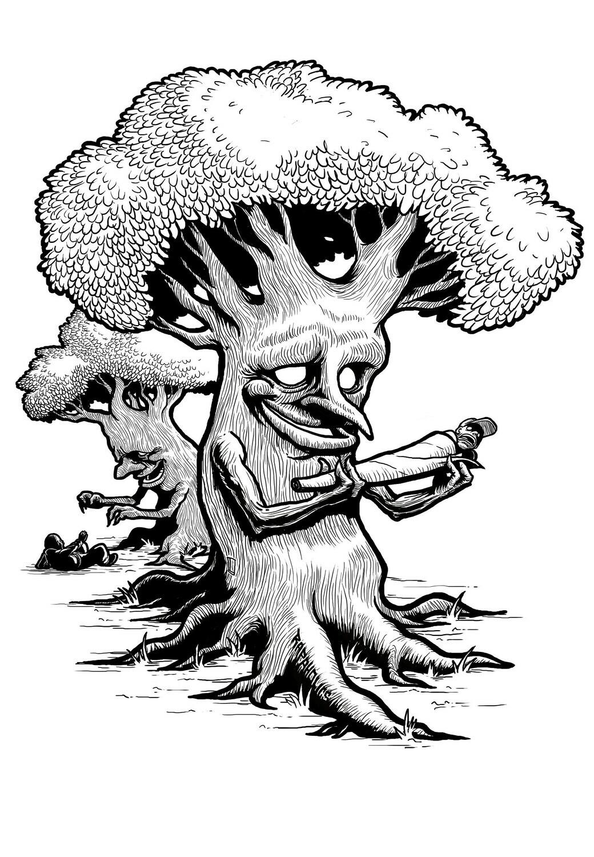 Smoking Trees - HQ Poster