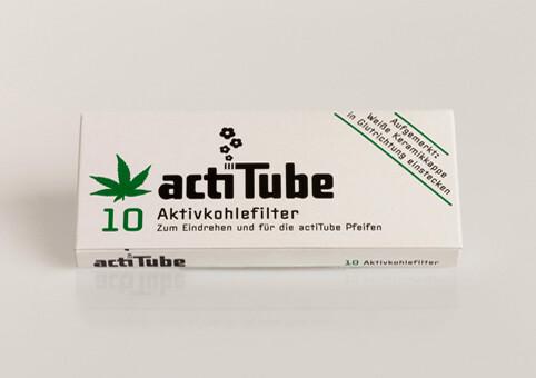 acti Tube - Aktivkohlefilter 10er Pck.