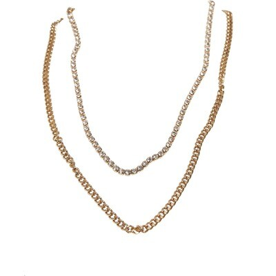 Double Layer Diamond Necklace