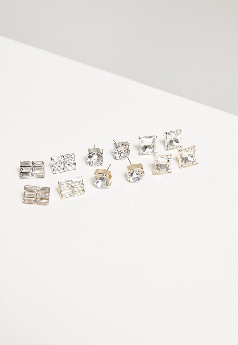 Diamond Earring Set 6-Pairs
