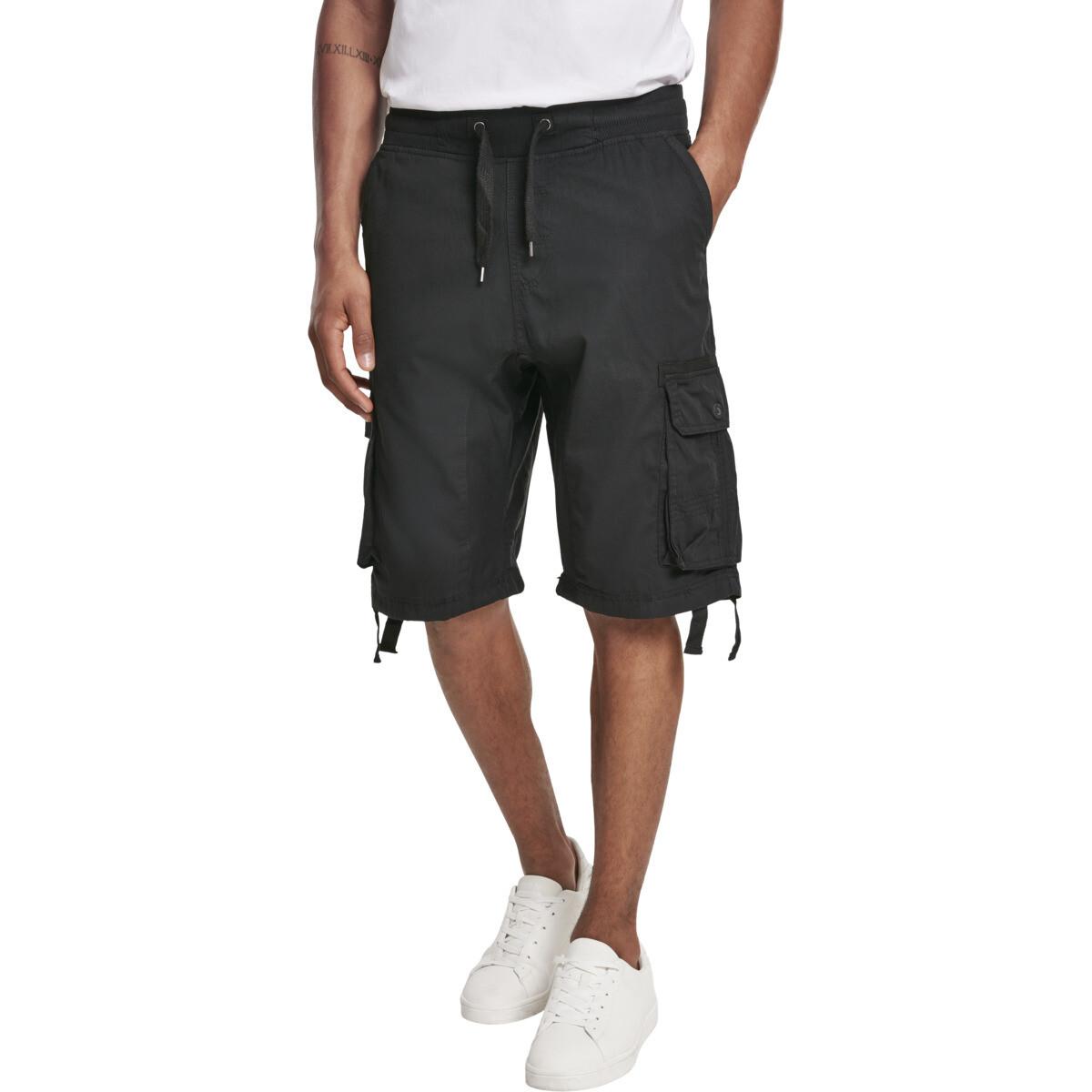 Jogger Shorts W/Cargo Fine Twill - Schwarz