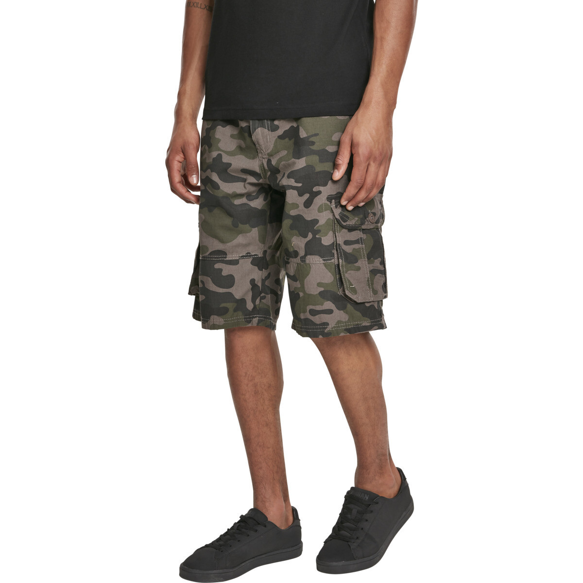 Belted Camo Cargo Shorts Ripstop- Woodland