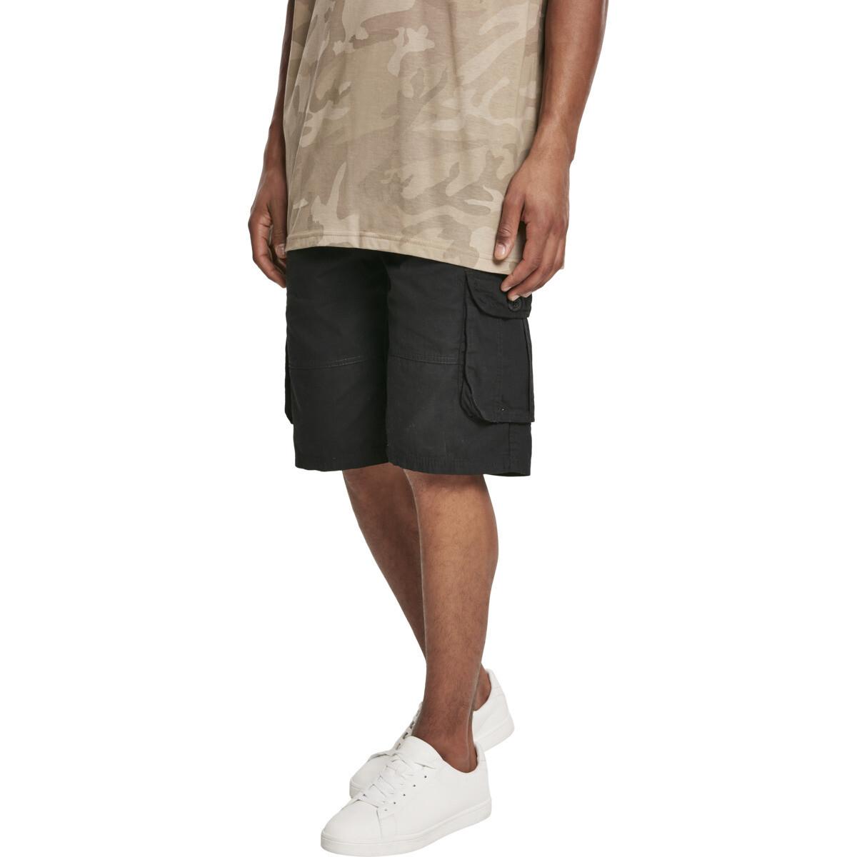Belted Cargo Shorts Ripstop - Schwarz