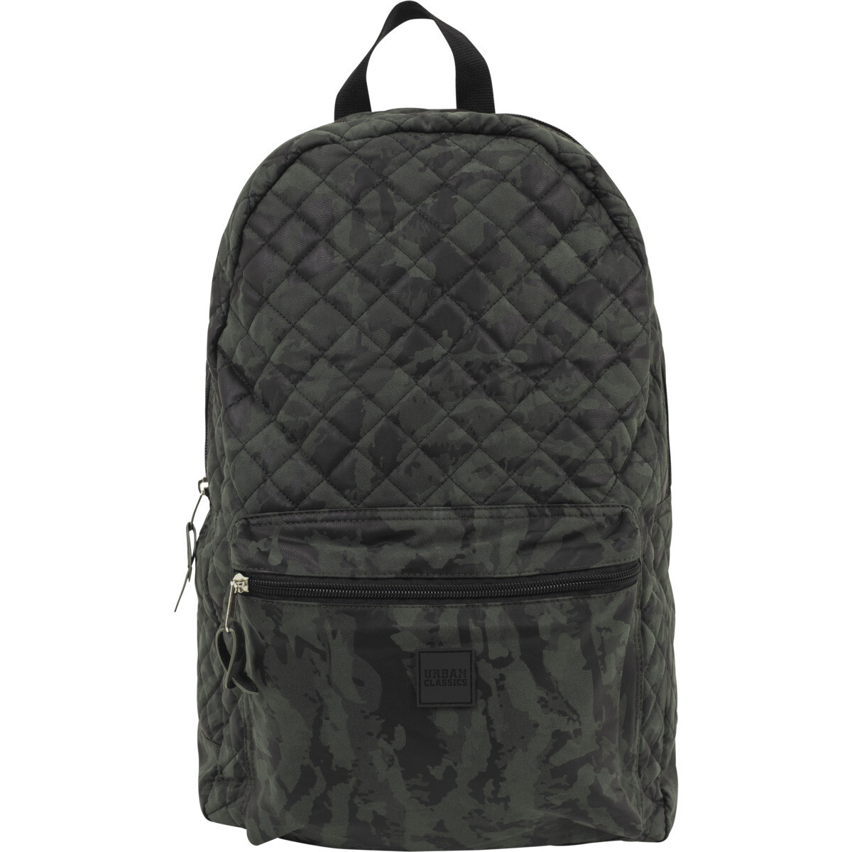 Diamond Quilt Leather Imitation Backpack - Camo