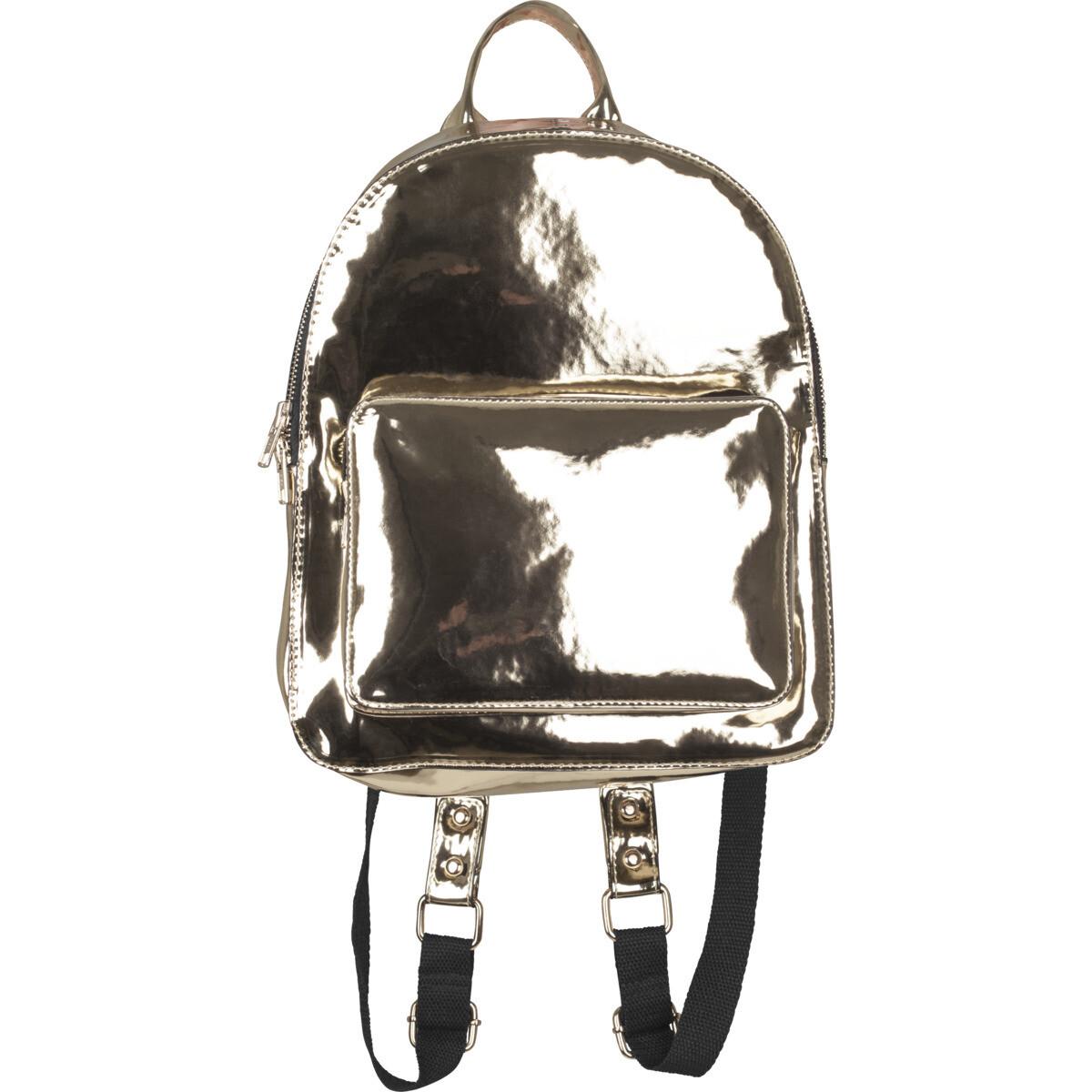 Midi Metallic Backpack - Gold