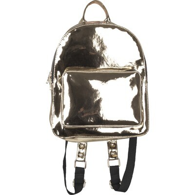 Midi Metallic Backpack - Gold