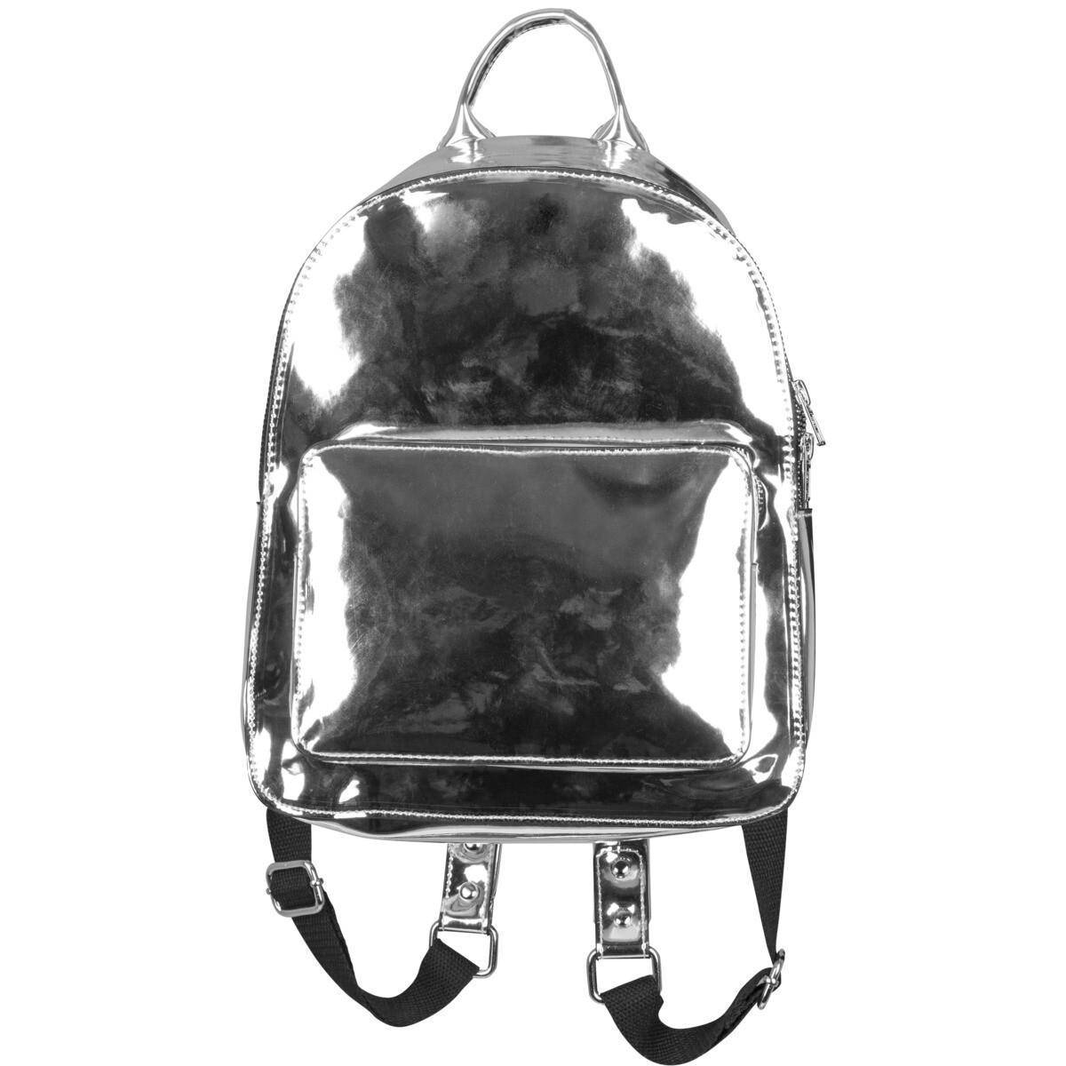 Midi Metallic Backpack - Silber