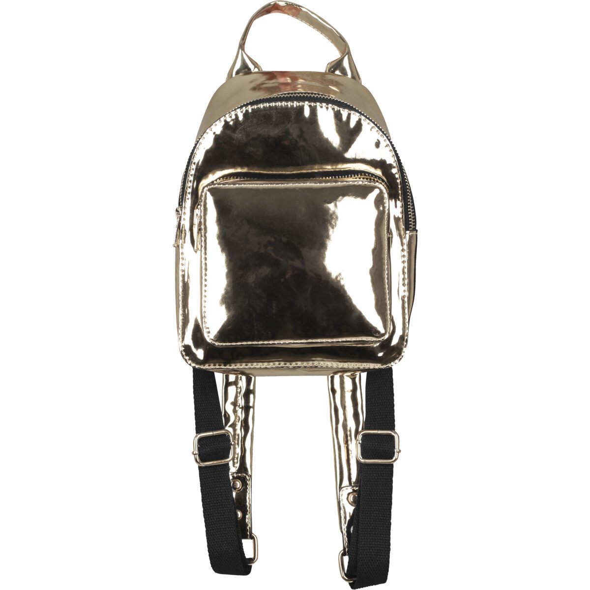 Mini Metallic Backpack - Gold