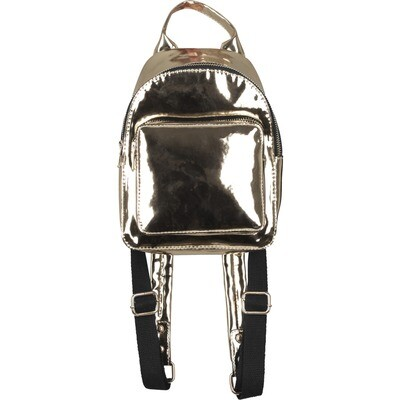Mini Metallic Backpack - Gold