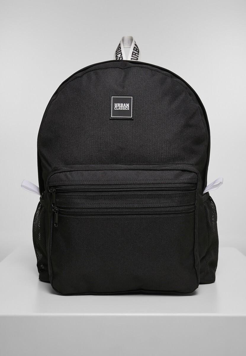 Basic Backpack - Schwarz/Weiss