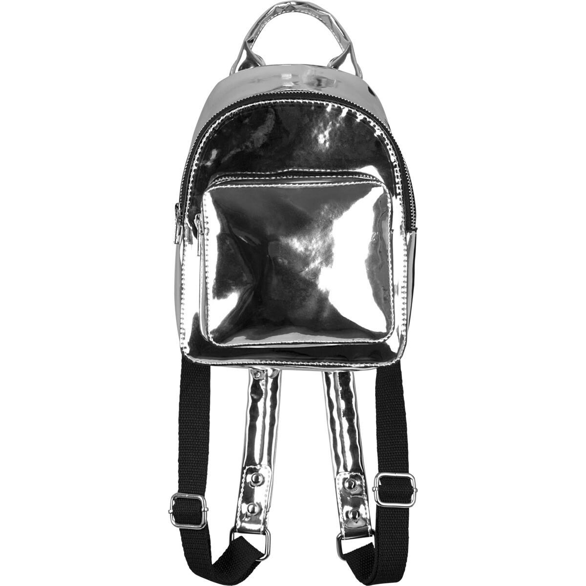 Mini Metallic Backpack - Silber