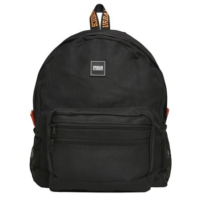 Basic Backpack - Schwarz/Orange