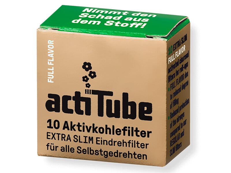 acti Tube - EXTRA Slim Full Flavor - Aktivkohlefilter 50er Pck.(nicht für Pfeifen)