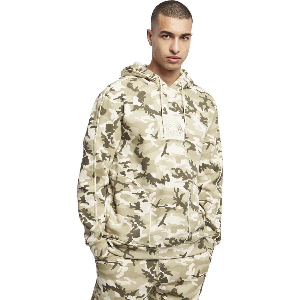 Southpole Square Embo Hoody