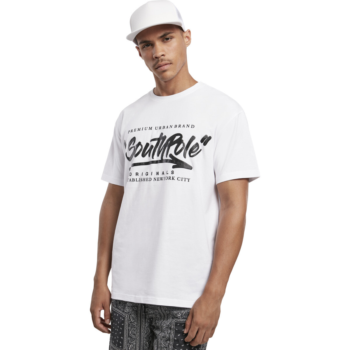 Southpole Short Sleeve Tee - Weiss