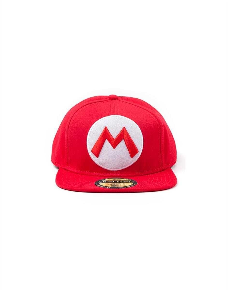 Nintendo - Red Snapback Cap With Mario Logo