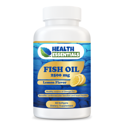 Fish Oil - 2500 mg Lemon Flavor