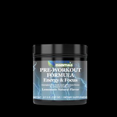 Pre-Workout Formula, Energy & Focus Lemonade